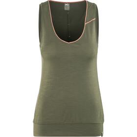 Millet Cloud Peak Koszulka bez rękawów Kobiety oliwkowy